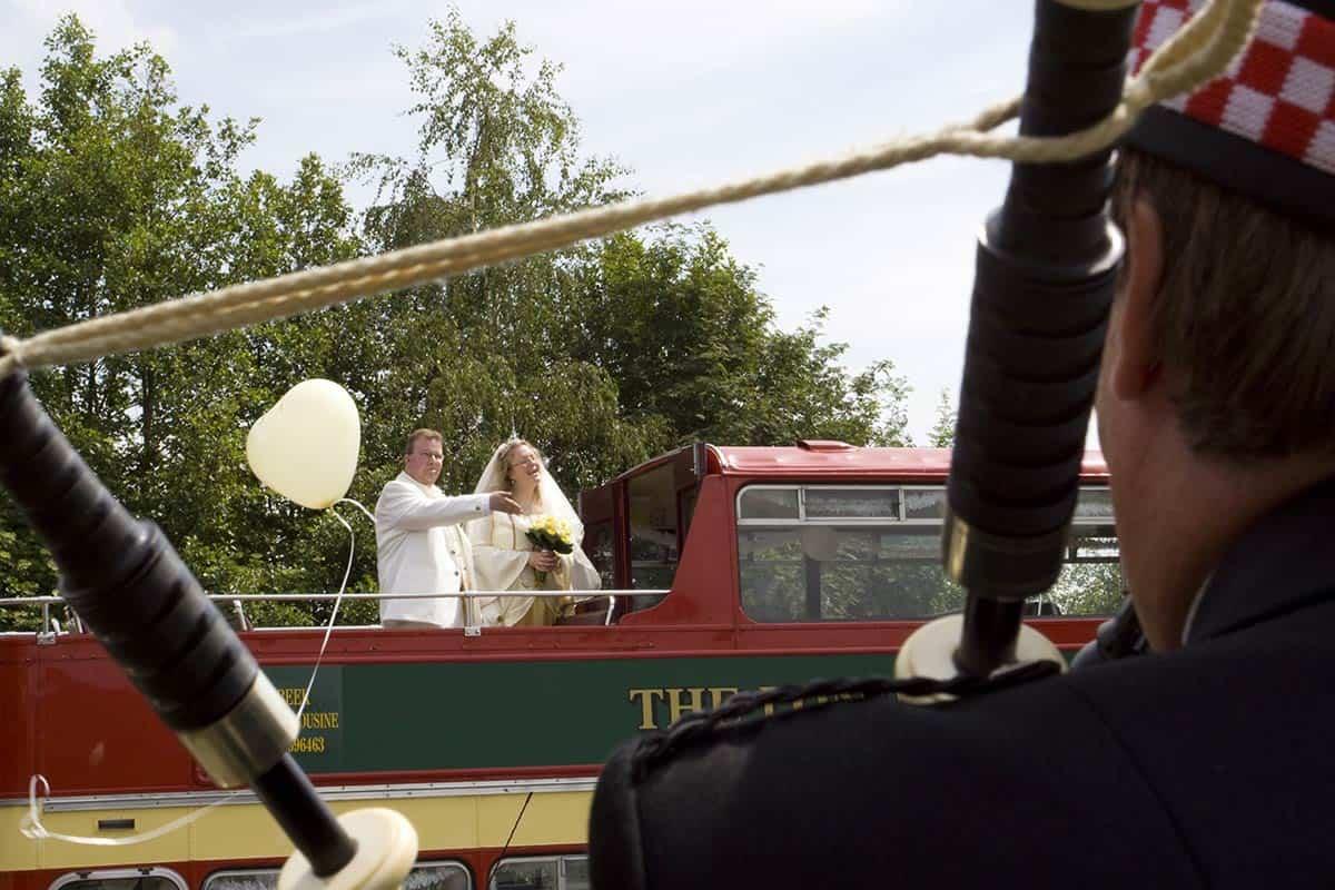doedelzak muziek trouwdag trouwen bruiloft trouwfoto