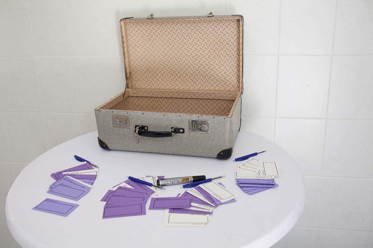 Gastenboek in de koffer