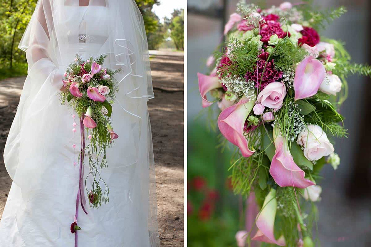 bruidsboeket lang bruid bruidsfotografie trouwfoto