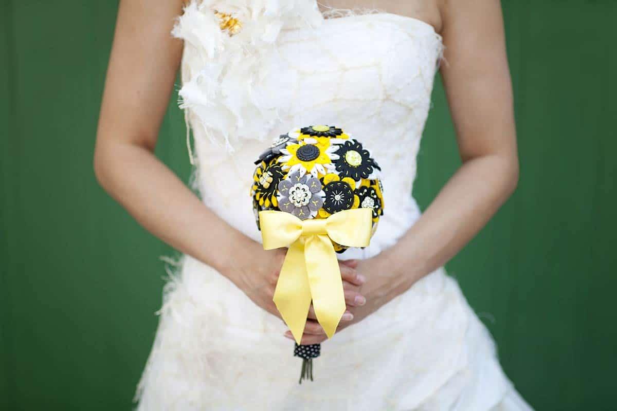 Interessant & alternatief bruidsboeket (zelf gemaakt)!