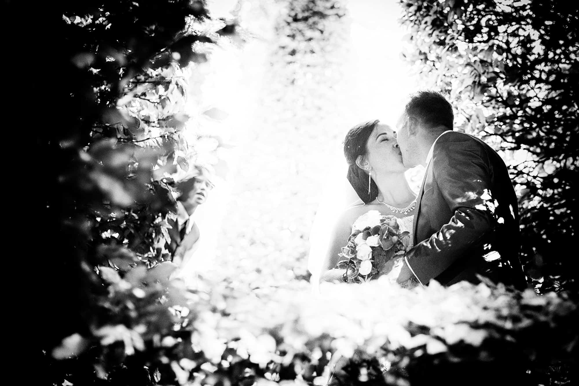 black & white photo wedding