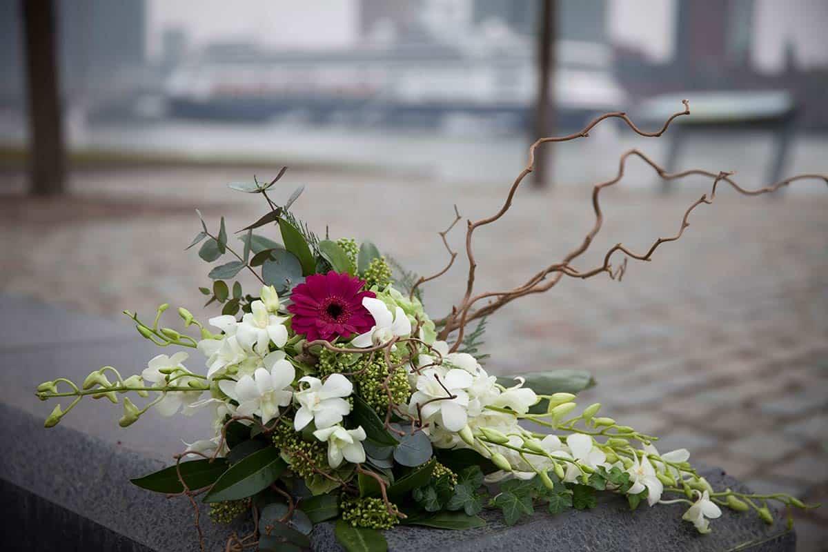 bijzonder speciaal bruidsboeket trouwdag trouwfoto bruidsfoto Rotterdam