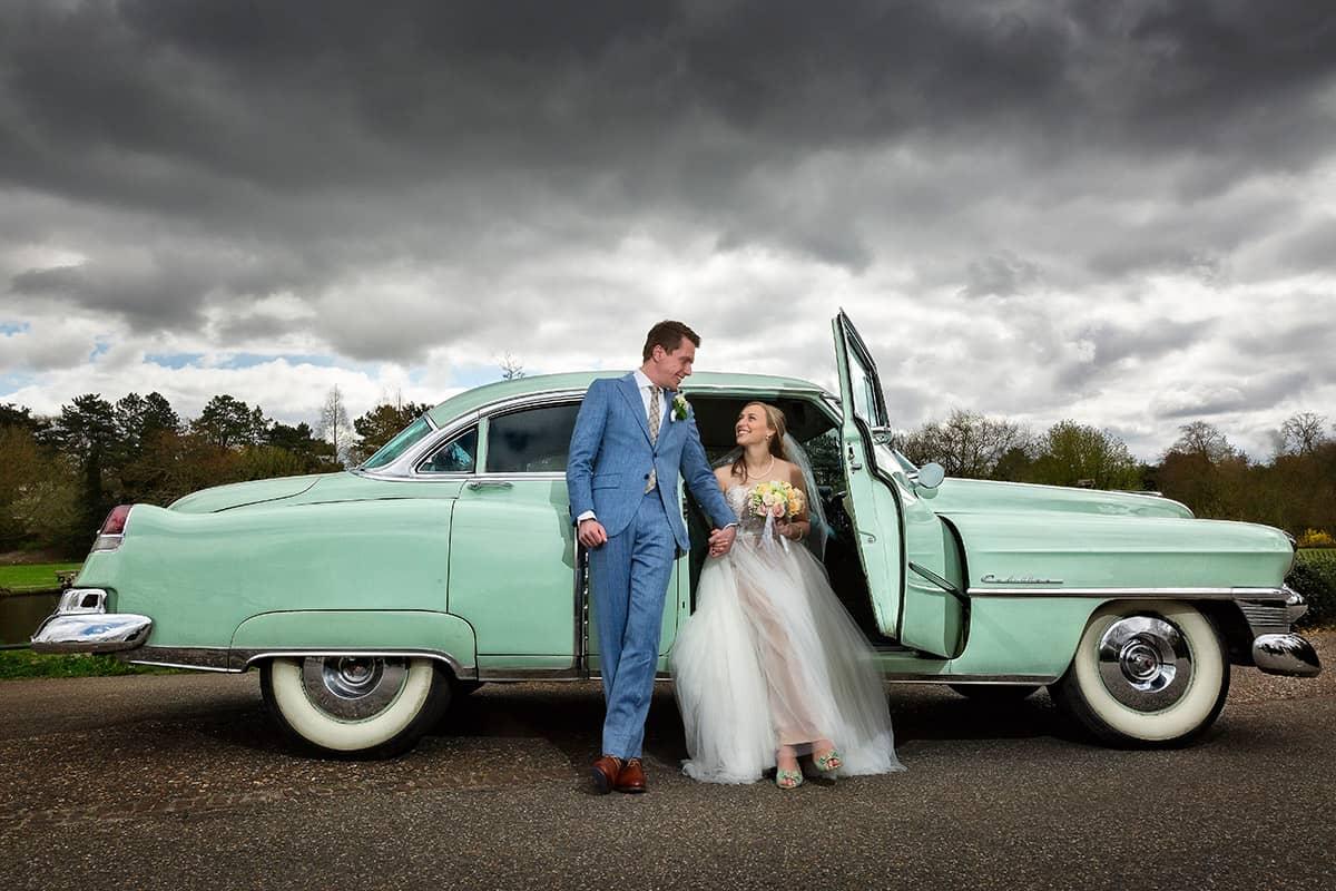 trouwauto Cadillac Heemstede bruidsfotografie