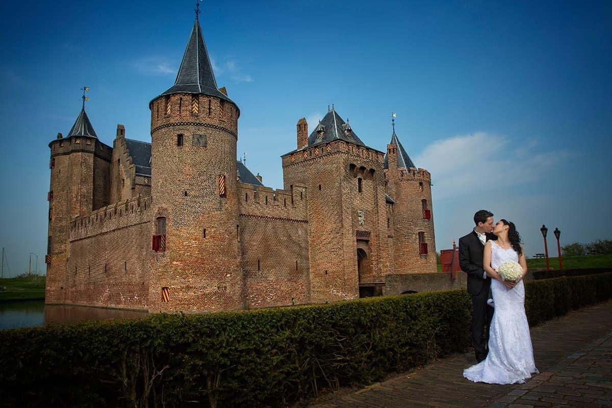 Bruidsfotografie trouwfotograaf Muiderslot