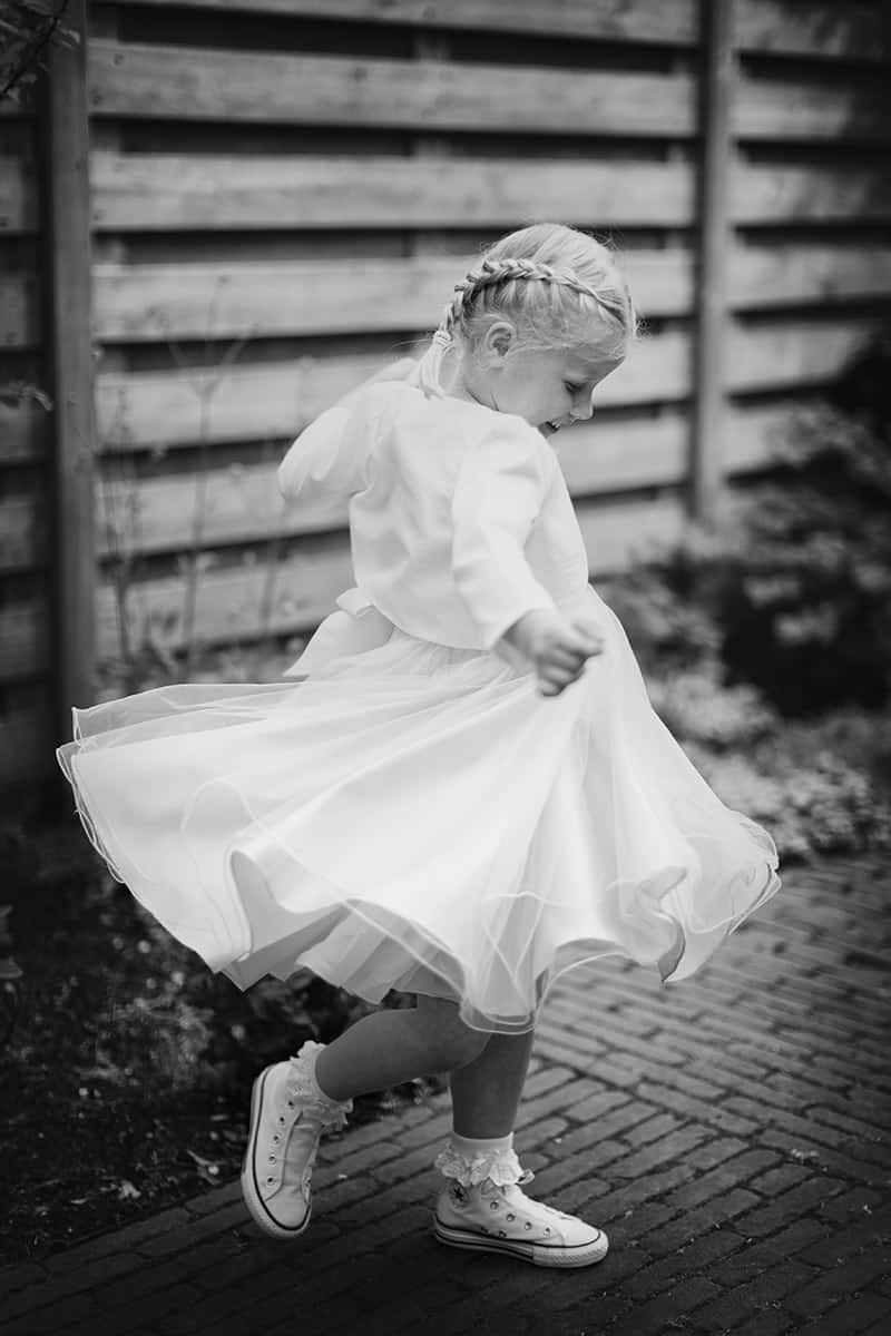Foto's bruidskinderen fotografie zwart-wit portret