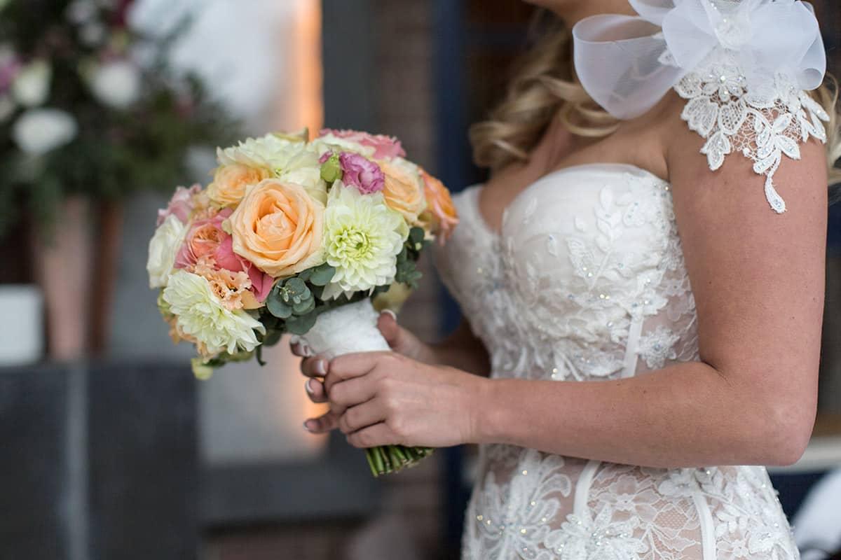 bruidsboeket bruid