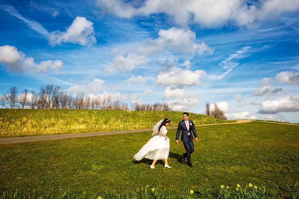 bruidspaar trouwfoto's Hoofddorp