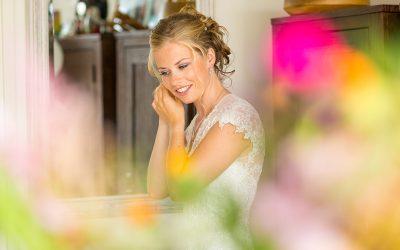 Bruid begin van de trouwdag