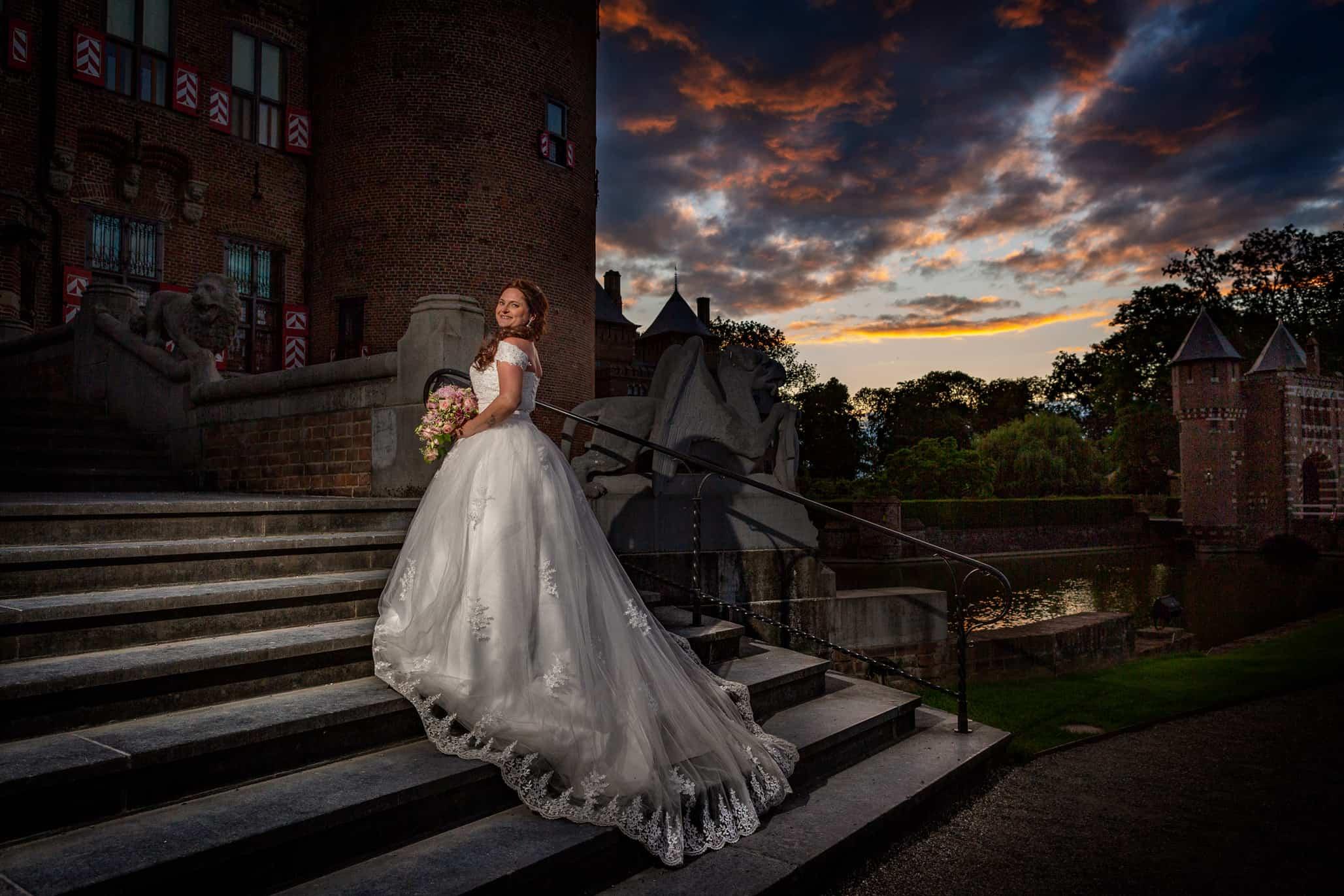 gouden uur fotografie bruid
