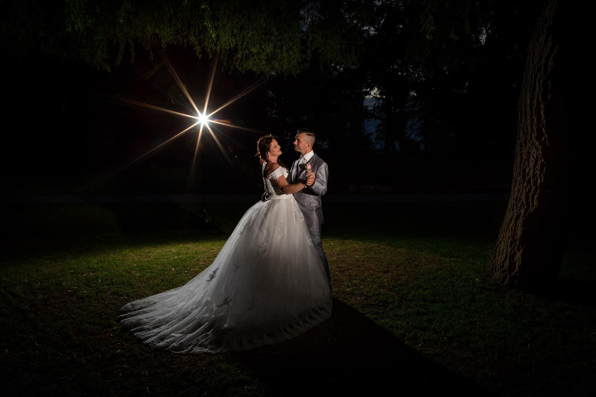 fotografie avond fotoshoot bruidspaar