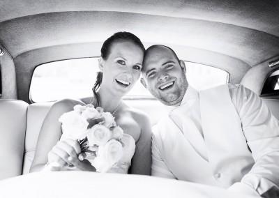 ophalen bruid trouwfoto trouwdag