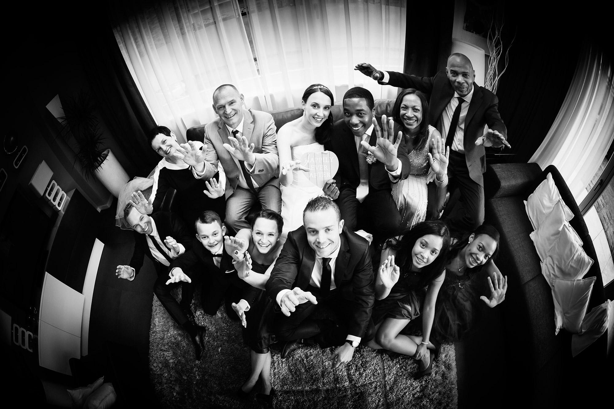 familiefoto trouwdag