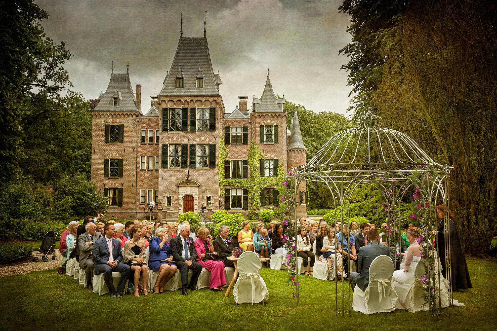 huwelijksceremonie Kasteel Keukenhof trouwfoto's bruidsfotografie