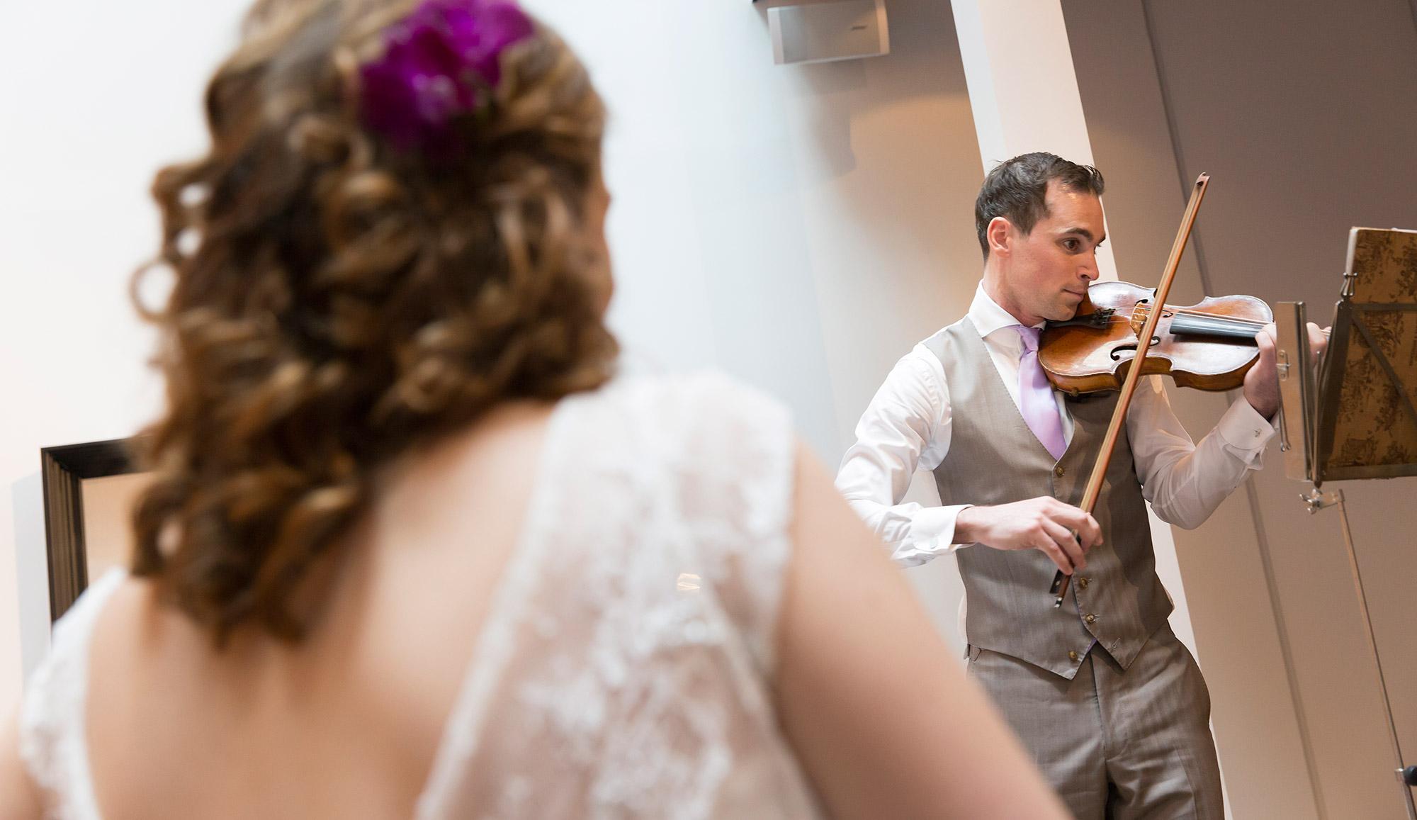 viool huwelijksceremonie muziek