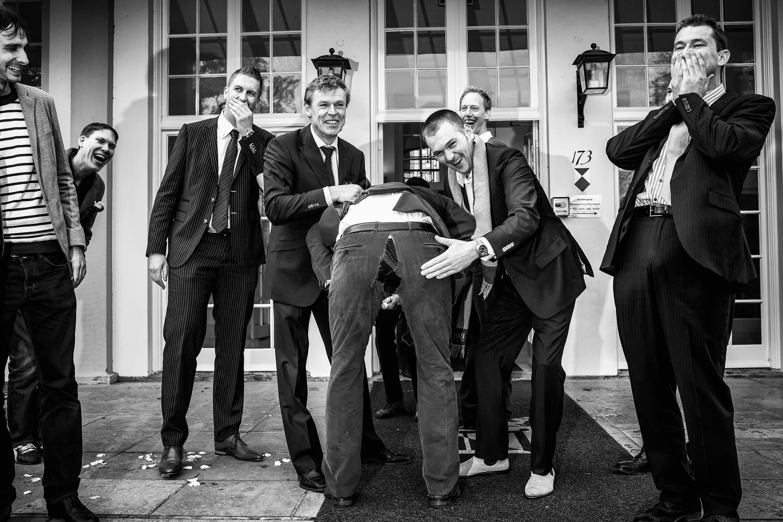 groepsfoto trouwdag