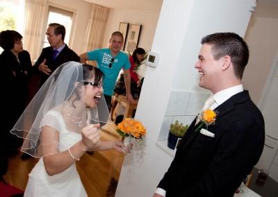 ophalen bruid trouwfoto