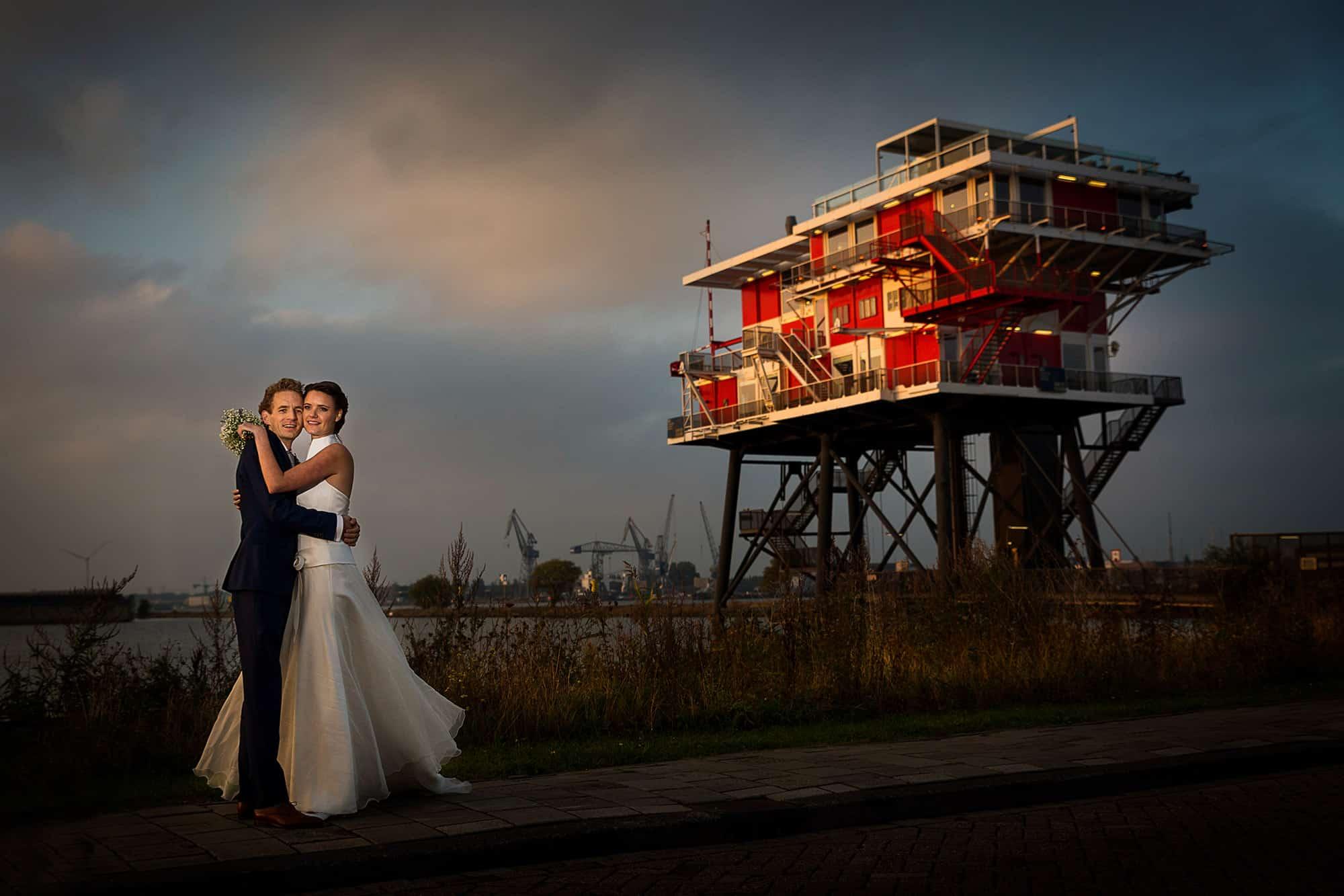 artistieke trouwfoto Amsterdam