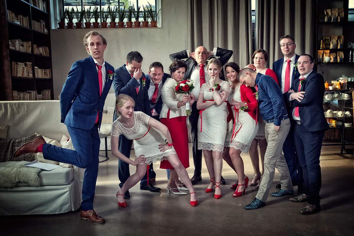 bruidsfoto groepsfoto familie