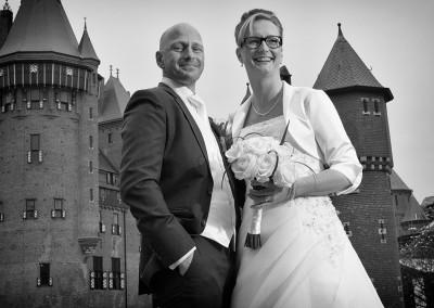 bruidsfoto kasteel Haarzuilens