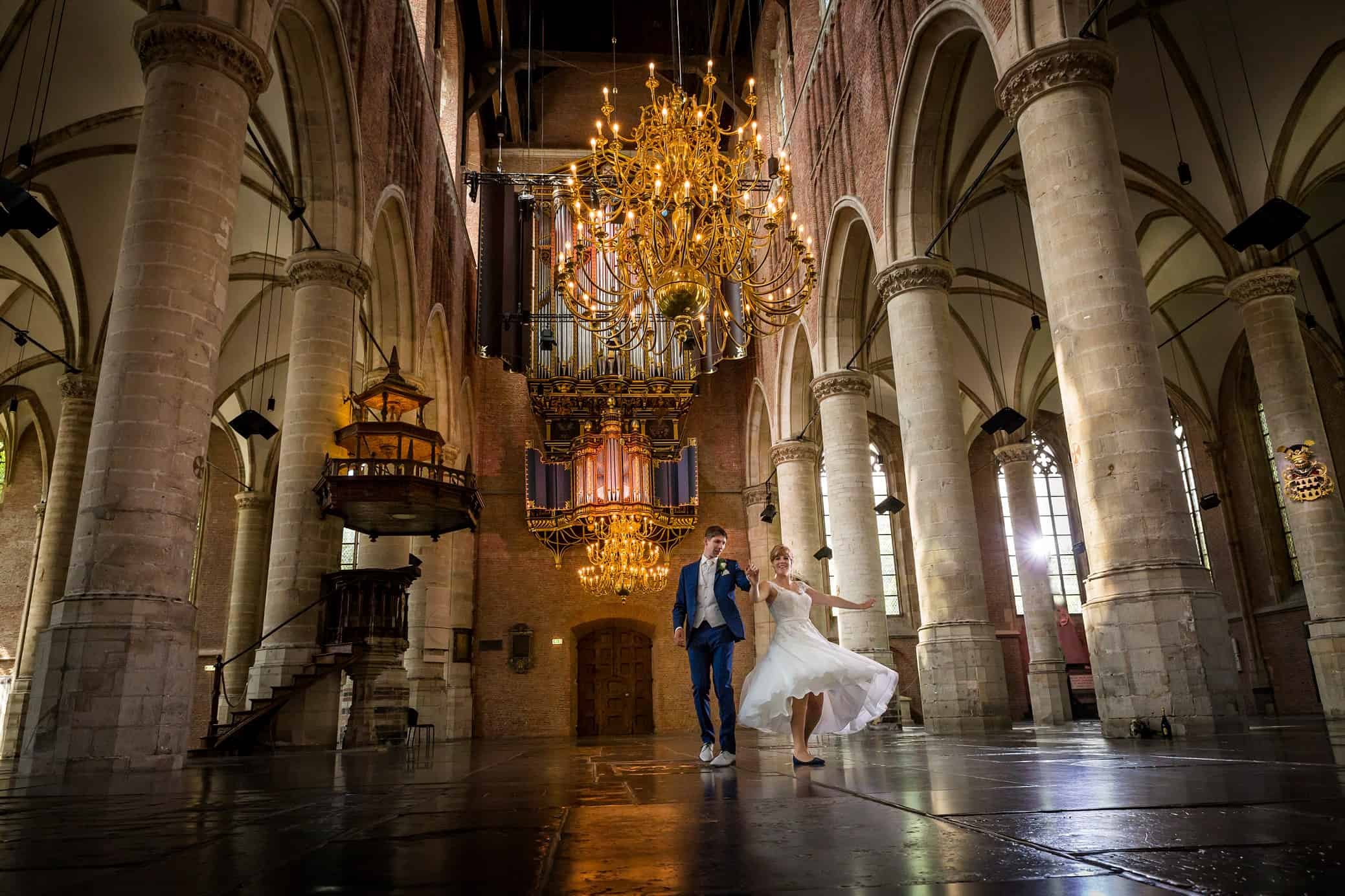 trouwfoto Leiden bruidspaar