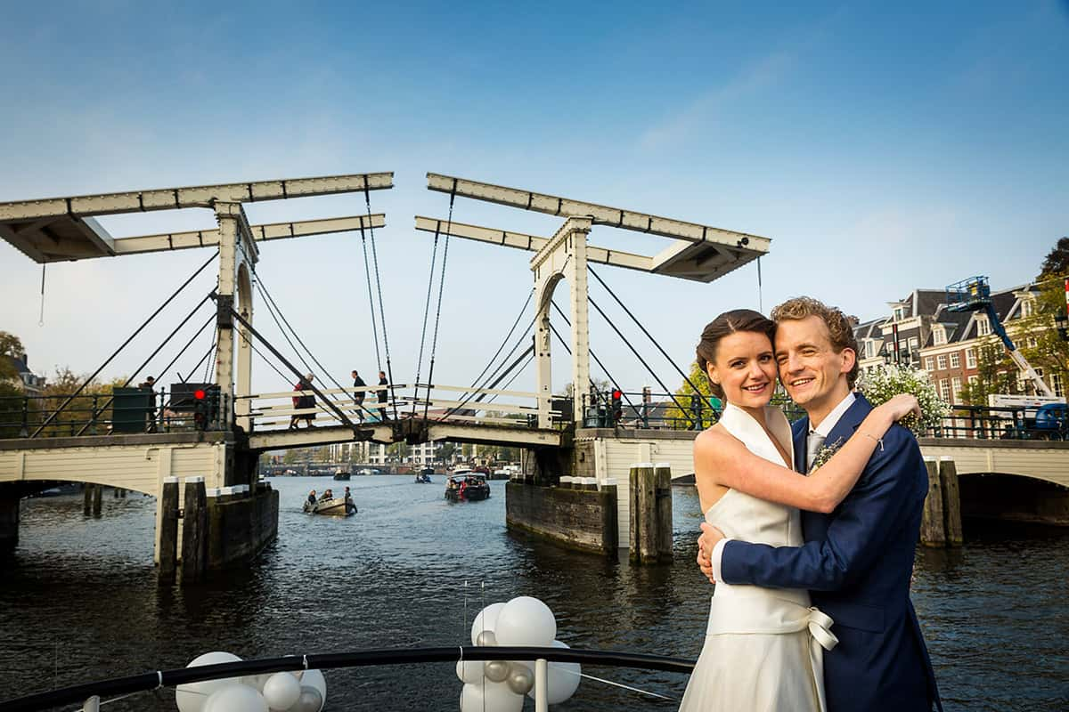 bruidsfotografie rondvaart Amstel Amsterdam