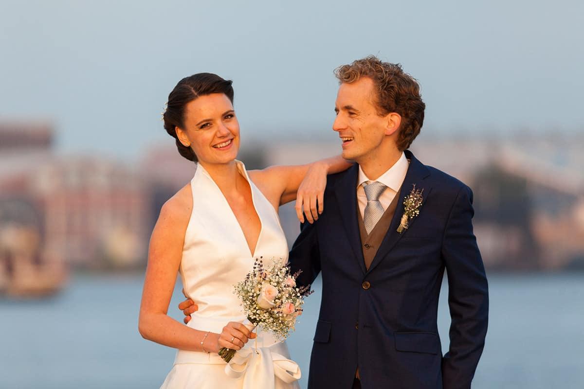 trouwfoto bruidspaar Amsterdam